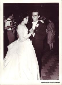my mom and dad's wedding day